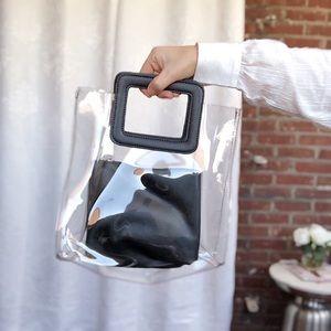 Handbags - 🆕Mabel Black & Clear PVC Top Handle Tote Bag